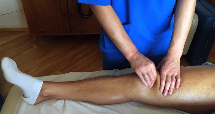 Пальпирование колена