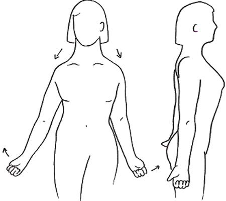Поднимание плеч