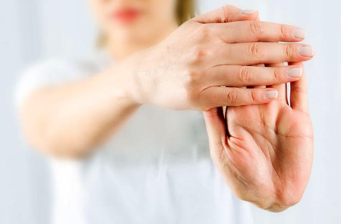 У женщины артрит