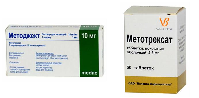 Методжект и Метотрексат