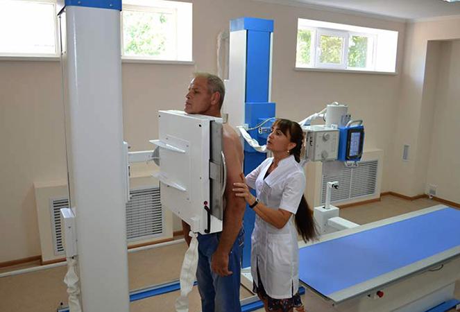 Проведение рентгенографии