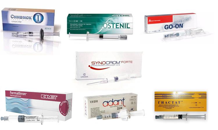 7 препаратов для протезирования синовиальной жидкости